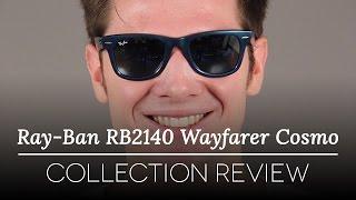 4128dd0dd0 Ray-Ban RB2140 Original Wayfarer Cosmo 611330 Sunglasses Blue ...