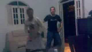 Diego(siganu) e Ricardo(animal) dançando piriquita