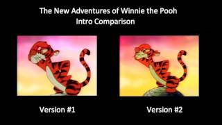 The New Adventures of Winnie the Pooh - Intro Comparison (2 Versions)