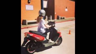 DMV practice for the behind the wheel motorcycle/scooter test in Californina M1 License