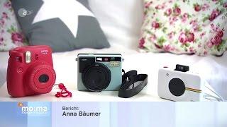 Polaroid-Kameras im Test (28.04.2017 ZDF-Morgenmagazin)