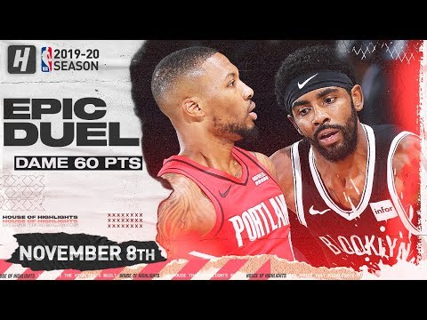 Download Video Damian Lillard Vs Kyrie Irving EPIC Duel Highlights (2019.11.08) - 60 Points For Dame, 33 For Kyrie!
