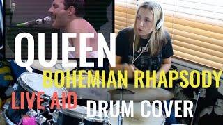 Queen|| Bohemian Rhapsody Live Aid Drum Cover