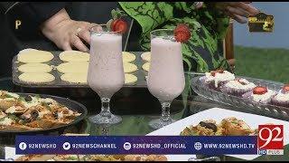Recipe Of Strawberry Smoothie by Chef Munira Kiran- 19 February 2018 - 92NewsHDPlus