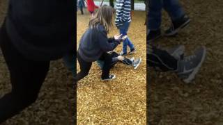 Girl beats up boy at the school