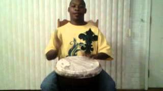 Davon playing jimba drum