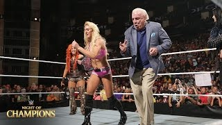 WWE Network: Charlotte celebrates winning the Divas Title with her father: Night of Champions 2015