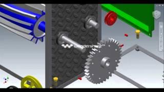 animasi mesin crusher inventor