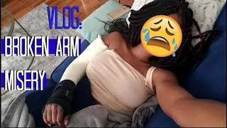 VLOG | BROKEN ARM MISERY!!! (⚠️ WARNING: CRYING+GRAPHIC CONTENT)