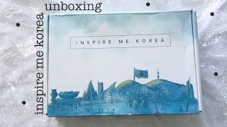 'inspire me korea' june box unboxing