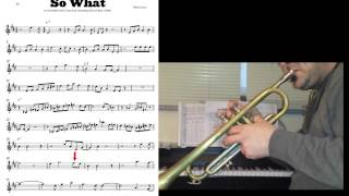 SO WHAT Miles Davis How to [not] play historical solo (Bb key)