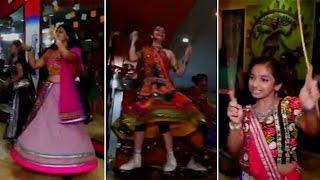 Girls enjoying 'Garba' on skates in Surat