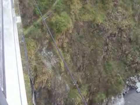 Bridge jumping in Baños, Ecuador