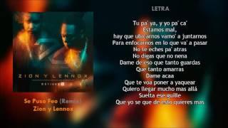 Se Puso Feo (Letra) - Zion y Lennox (Motivan2) + Descarga Mp3
