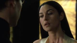 Monica Bellucci kissing scene  -The Matrix Reloaded