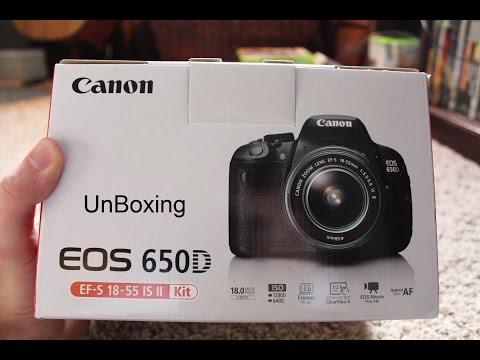 فتح صندوق حزمه كامره كانون 650 دي | Canon 650D 75-300 EF