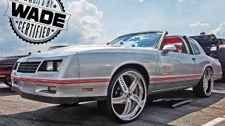 "King of The South 2015 : Silver Chevy Monte Carlo SS on 24"" Wheels"