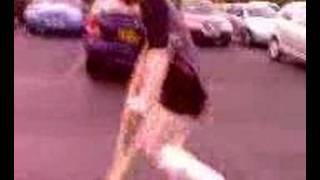 Hollie in Car Park crutch race !!!