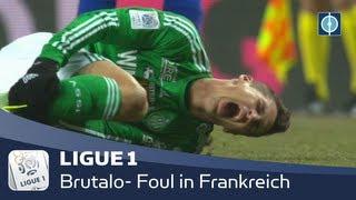 LIGUE 1 | Brutalo-Foul in Frankreich | AS Saint-Etienne - OGC Nizza | 02.03.2013