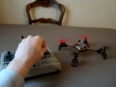 Radio controlled Quadcopter with arduino and brushed motors
