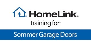 HomeLink training for Sommer garage door openers video poster