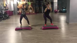 Asia & Emiliana Zumba Step Cheap Thrills Choreo