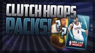 CLUTCH LAST PACK! 10x Hoops Packs Opening! NBA Live Mobile!