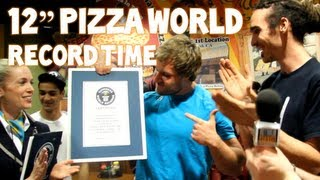 "World's Fastest Time To Eat A 12"" Pizza - 41.31 Seconds 