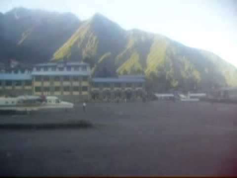 Taking off from Lukla airport