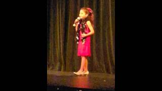 Brooke singing Live Life by Jesse and joy