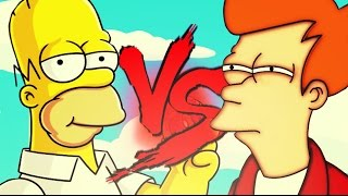 Homer Simpsons VS. Philip J. Fry(Futurama) FT. All Place e HeyRap