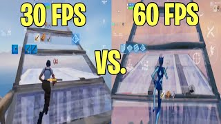 30 FPS VS 60 FPS FORTNITE MOBILE