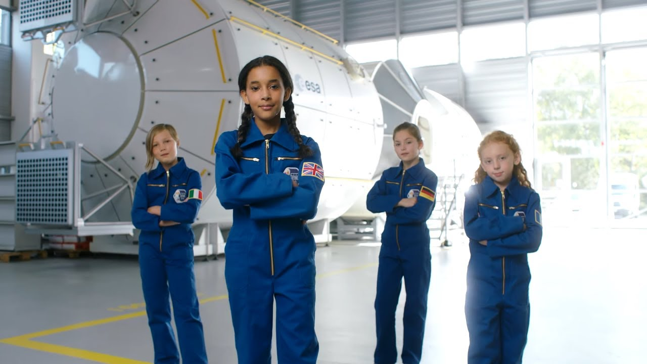 Child models as young astronauts in this amazing Barbie commercial