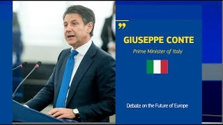 Debating the Future of Europe with Giuseppe Conte