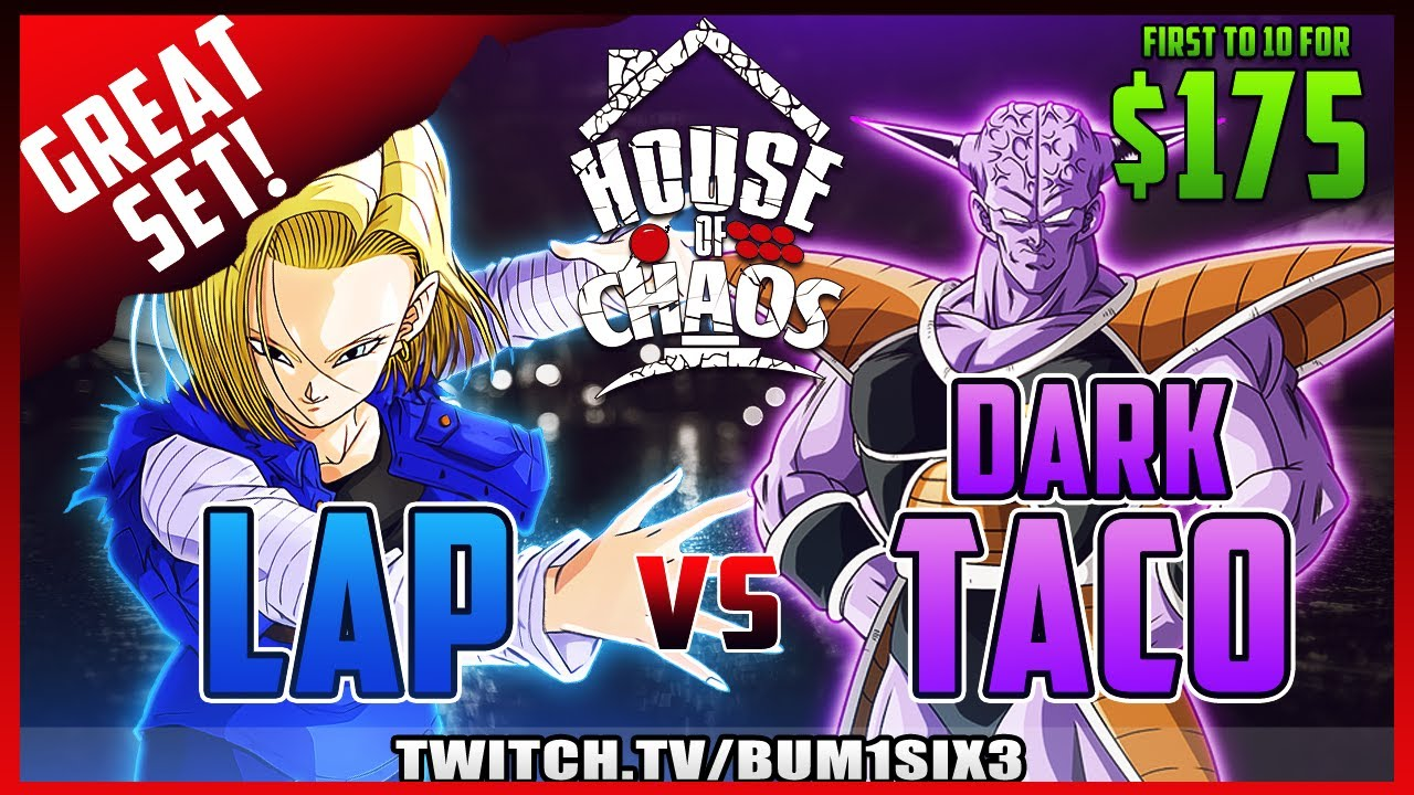 Bum1six3 - DBFZ Money Match - Lap vs Autistic Dark Taco FT 10 [ Great Set ]