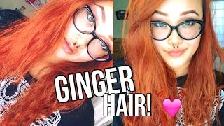 DYING MY HAIR GINGER!!