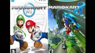 Mario Kart Wii 8 Moo Moo Meadows mash-up