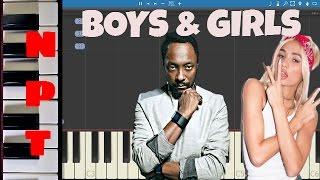 will.i.am ft. Pia Mia - Boys & Girls - Piano Tutorial - How to play