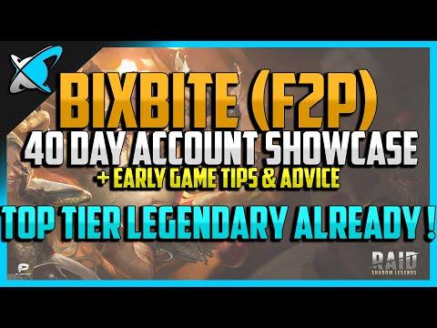 RAID: Shadow Legends | 40 DAY F2P ACCOUNT SHOWCASE | Tips & Advice