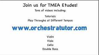 Orchestra Tutor - TMEA Texas All-State Orchestra - Cello Etude Popper 17, Audition Tempo
