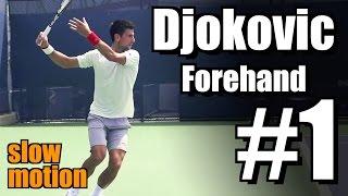 Novak Djokovic in Super Slow Motion | Forehand #1 | Western & Southern Open 2014