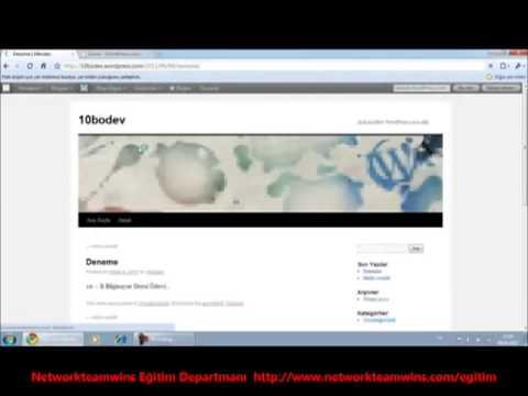 www.networkteamwins.com  Wordpress.com DA ÜCRETSİZ SİTE KURMA EĞİTİMİ 2