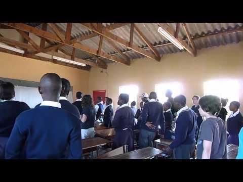 Mbangbangwe students singing 2