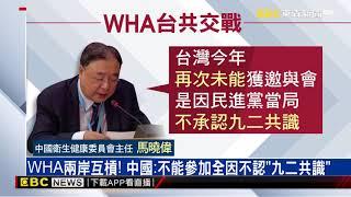 拒台參加WHA 陳時中狠批中國大陸「紅色沙塵暴」