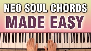 EASY Neo Soul Chords: A SIMPLE example of a progression (with full voicings) width=