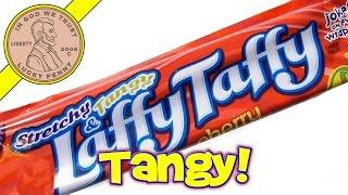 Wonka Laffy Taffy, Stretchy & Tangy Cherry Flavor - USA Candy Tasting