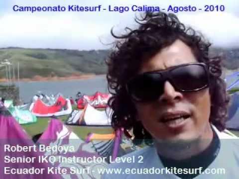 Ecuador Kitesurf – Robert Bedoya in Calima Lake – National Championship 2010