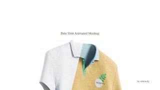 Polo Shirt Animated Mockup Intro
