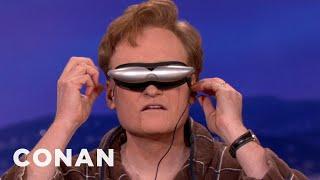 Conan Tries Deepak Chopra's Trippy Glasses - CONAN on TBS