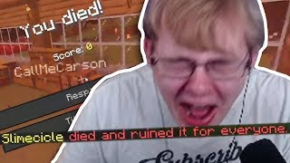 Minecraft, but if one person dies everyone dies